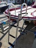 Badeleiter über Deck mit 4 Premium-Stufen